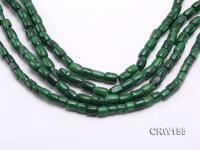 Wholesale 8x10mm Pillar-shaped Green Coral Beads Loose String CRW155
