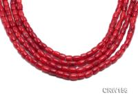 Wholesale 7x9mm Pillar-shaped Red Coral Beads Loose String CRW156