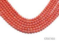 Wholesale 7mm Lantern-shaped Pink Coral Beads Loose String CRW160