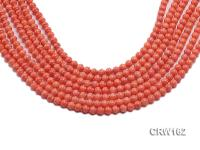 Wholesale 6mm Lantern-shaped Pink Coral Beads Loose String CRW162
