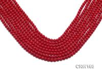 Wholesale 5mm Round Red Coral Beads Loose String CRW168