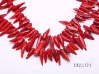 Wholesale 9-35mm Chili-shaped Red Coral Sticks Loose String CRW171