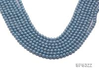 Wholesale 6mm Round Sky-blue Seashell Pearl String SPS322