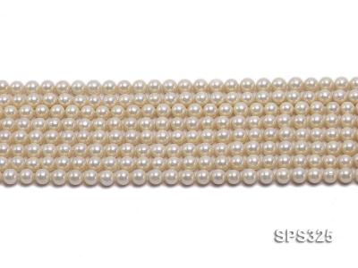 Wholesale 6mm Round Golden Seashell Pearl String SPS325 Image 2