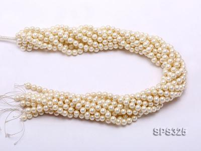 Wholesale 6mm Round Golden Seashell Pearl String SPS325 Image 3