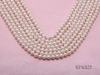 Wholesale 7.5mm Round White Seashell Pearl String SPS327