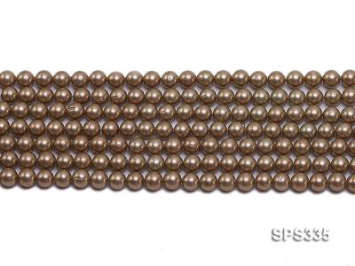 Wholesale 6mm Round Coffee Brown Seashell Pearl String SPS335 Image 2