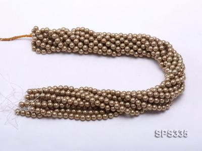 Wholesale 6mm Round Coffee Brown Seashell Pearl String SPS335 Image 3