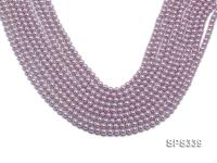 Wholesale 5mm Round Lavender Seashell Pearl String SPS339