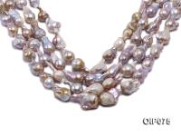 14-16.5mm Lavender Baroque Pearl String OIP075