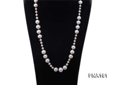 12-15.5mm Classy White Edison Pearl Long Necklace FNA161 Image 2