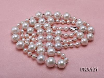 12-15.5mm Classy White Edison Pearl Long Necklace FNA161 Image 4