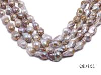 16-20mm Grey Lavender Irregular Pearl String OIP144