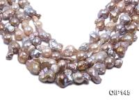 14-20mm Grey Lavender Irregular Pearl String OIP145