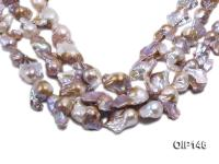 18-30mm Grey Lavender Irregular Pearl String OIP146