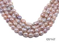 12-16mm Grey Lavender Irregular Pearl String OIP147
