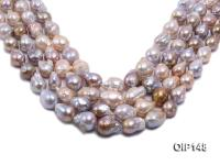 12-16mm Grey Lavender Irregular Pearl String OIP148