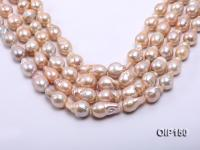 12-16mm Pink Irregular Pearl String OIP150
