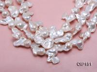 18-30mm White Irregular Pearl String OIP151