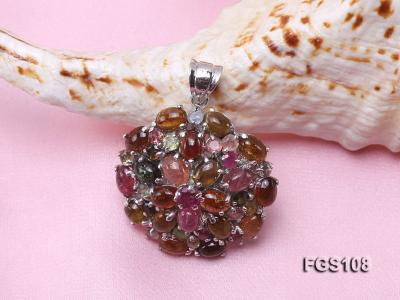 Fine Natural Tourmaline Pendant and Stud Earrings Set Jewelry FGS108 Image 5