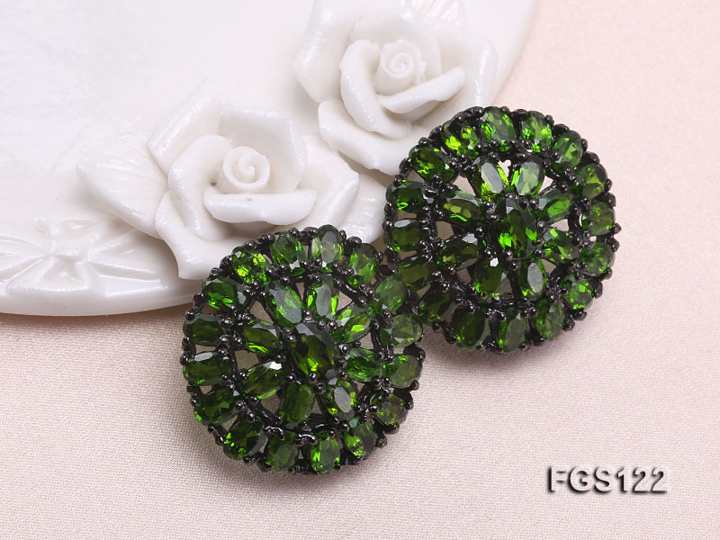 Fine Natural Tsavorite Ring and Earrings Set Jewelry big Image 2