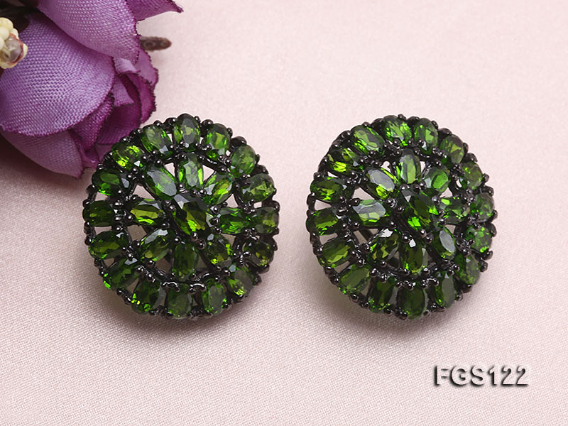 Fine Natural Tsavorite Ring and Earrings Set Jewelry big Image 3