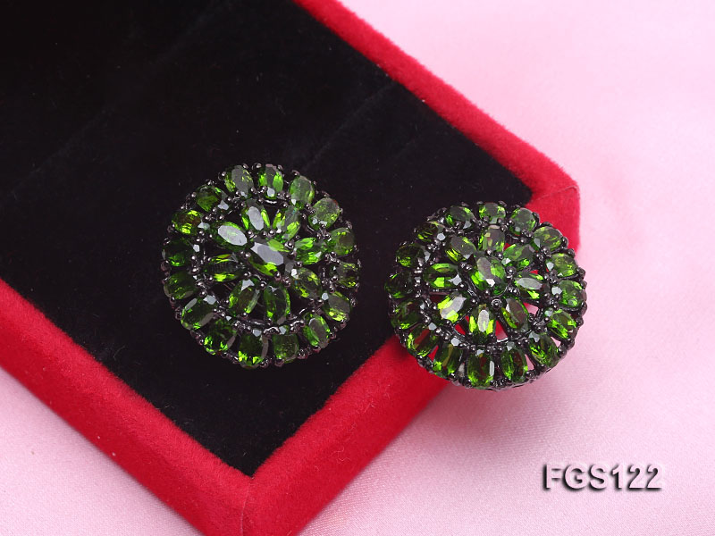 Fine Natural Tsavorite Ring and Earrings Set Jewelry big Image 4