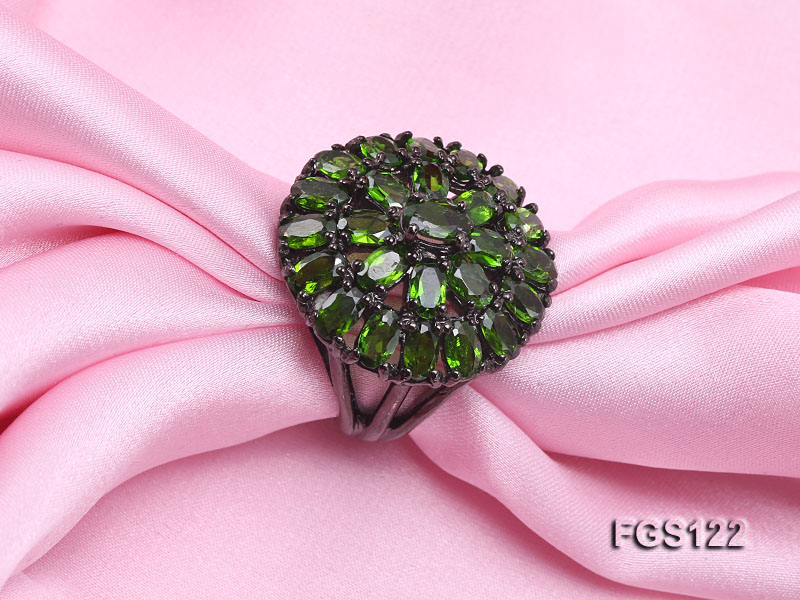 Fine Natural Tsavorite Ring and Earrings Set Jewelry big Image 5