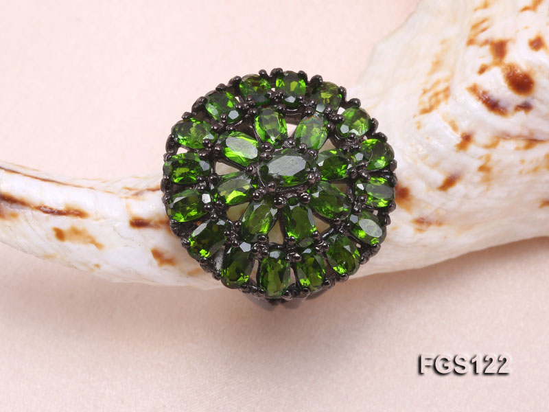 Fine Natural Tsavorite Ring and Earrings Set Jewelry big Image 6