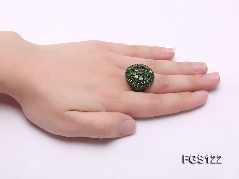 Fine Natural Tsavorite Ring and Earrings Set Jewelry big Image 7