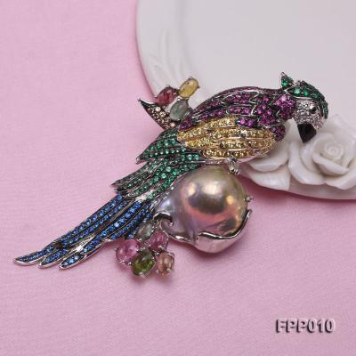 Fine Parrot-style Lavender Baroque Pearl Pendant/Brooch FPP010 Image 6