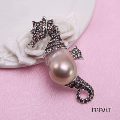 Fine Seahorese-style Lavender Baroque Pearl Pendant FPP017 Image 2