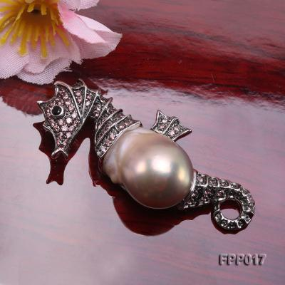 Fine Seahorese-style Lavender Baroque Pearl Pendant FPP017 Image 5