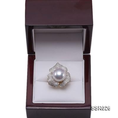 Luxury 13.5mm Shiny White South Sea Pearl Ring  SSR026 Image 10