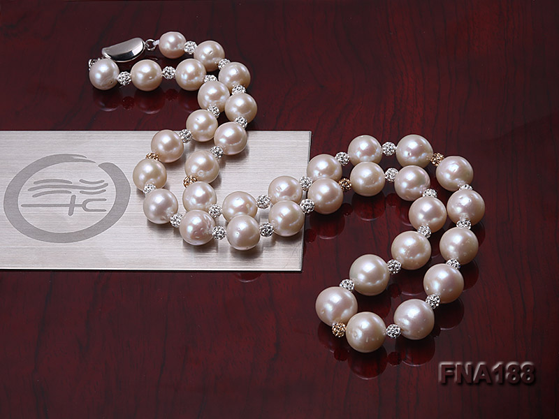 10-12mm White Edison Pearl Necklace  big Image 5