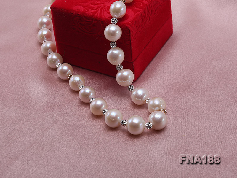 10-12mm White Edison Pearl Necklace  big Image 6