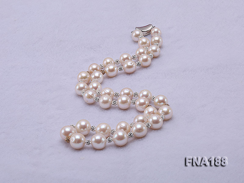 10-12mm White Edison Pearl Necklace  big Image 2