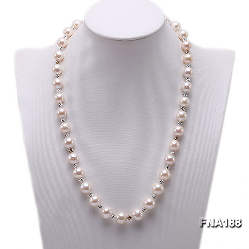 10-12mm White Edison Pearl Necklace  big Image 1