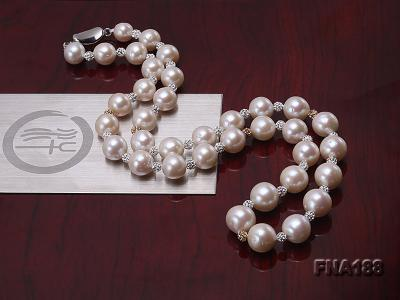 10-12mm White Edison Pearl Necklace  FNA188 Image 5