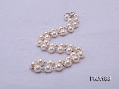 10-12mm White Edison Pearl Necklace  FNA188 Image 2