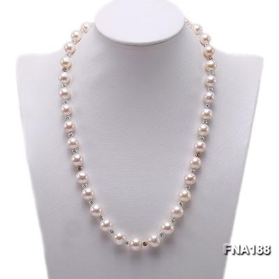 10-12mm White Edison Pearl Necklace  FNA188 Image 1