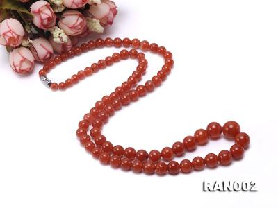 Natural 5.5-12.5mm Round Nanhong Agate Graduated Necklace  RAN002 Image 5