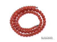 Natural 5.5-12.5mm Round Nanhong Agate Graduated Necklace  RAN002