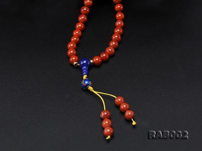 8-8.5mm Nanhong Agate Bracelet with 8-10mm Lapis and 925 Sterling Silver Accessories RAB002 Image 7