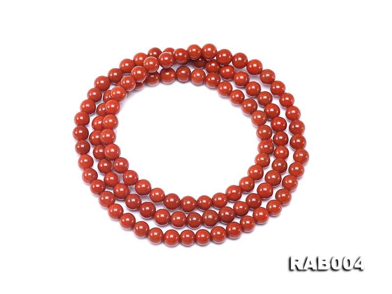 5-5.5mm Natural Nanhong Agate Multi-strand Bracelet big Image 1