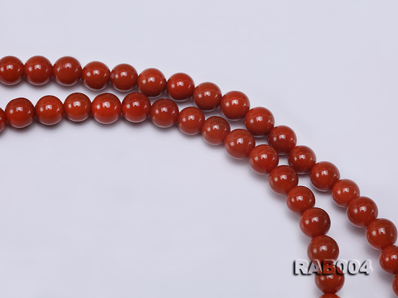 5-5.5mm Natural Nanhong Agate Multi-strand Bracelet big Image 4