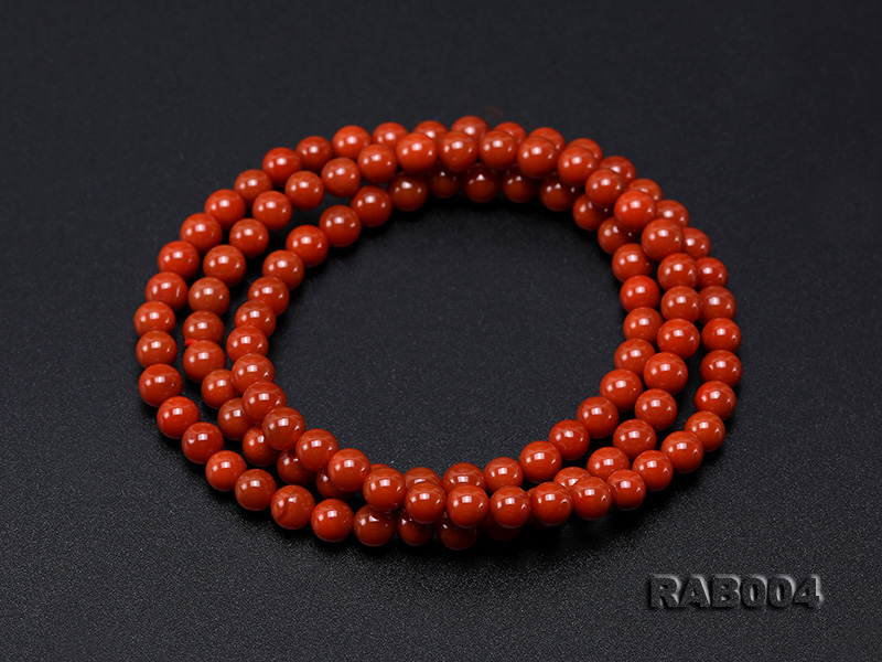 5-5.5mm Natural Nanhong Agate Multi-strand Bracelet big Image 7
