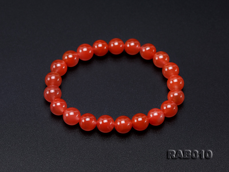 9.5-10mm High-grade Natural Nanhong Agate Bracelet big Image 6