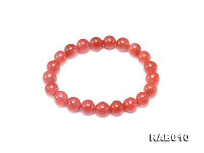 9.5-10mm High-grade Natural Nanhong Agate Bracelet RAB010 Image 1