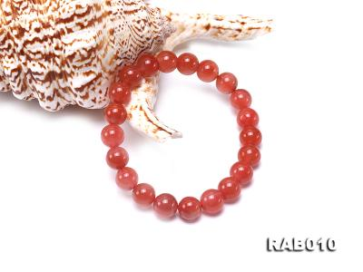 9.5-10mm High-grade Natural Nanhong Agate Bracelet RAB010 Image 2